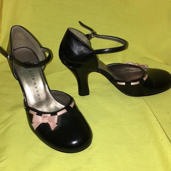 ellemenno Shoes - Pink & black ankle strap heels